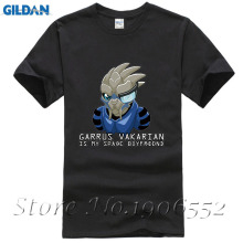Mass Effect 2 Garrus Vakarian Is My Space Boyfriend Cool Design Men T Shirt Summer Short Sleeve Tops Hipster Funny Tee Plus Size