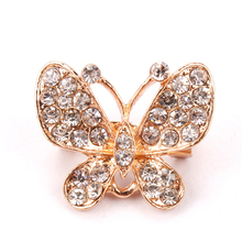 Small and Cute Crystal Diamante Crown / Heart / Floral / Butterfly Assorted Brooch Pins With Shinning Clear Rhinestones