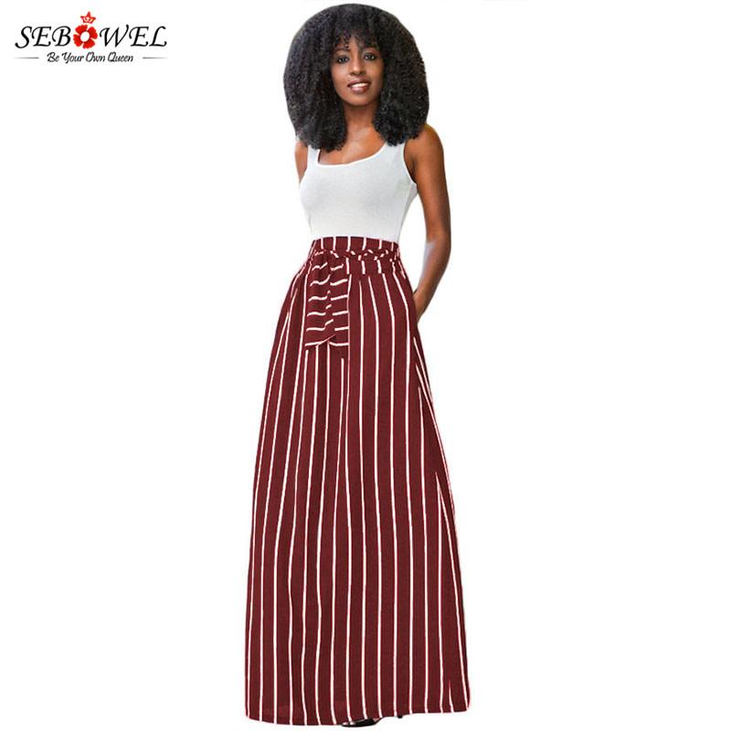 Burgundy-Striped-Maxi-Skirt-LC65037-3-1