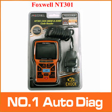 Free Shipping Foxwell NT301 Can OBDII EOBD Code Reader Update Online Powerful Auto Diagnostic Check Engine Scanner Tool