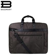 BAGSMART New Suit Cover Lightweight Black Nylon Business Dress Garment Bag Waterproof Suit Bag Durable Men'S Suit Travel Bag