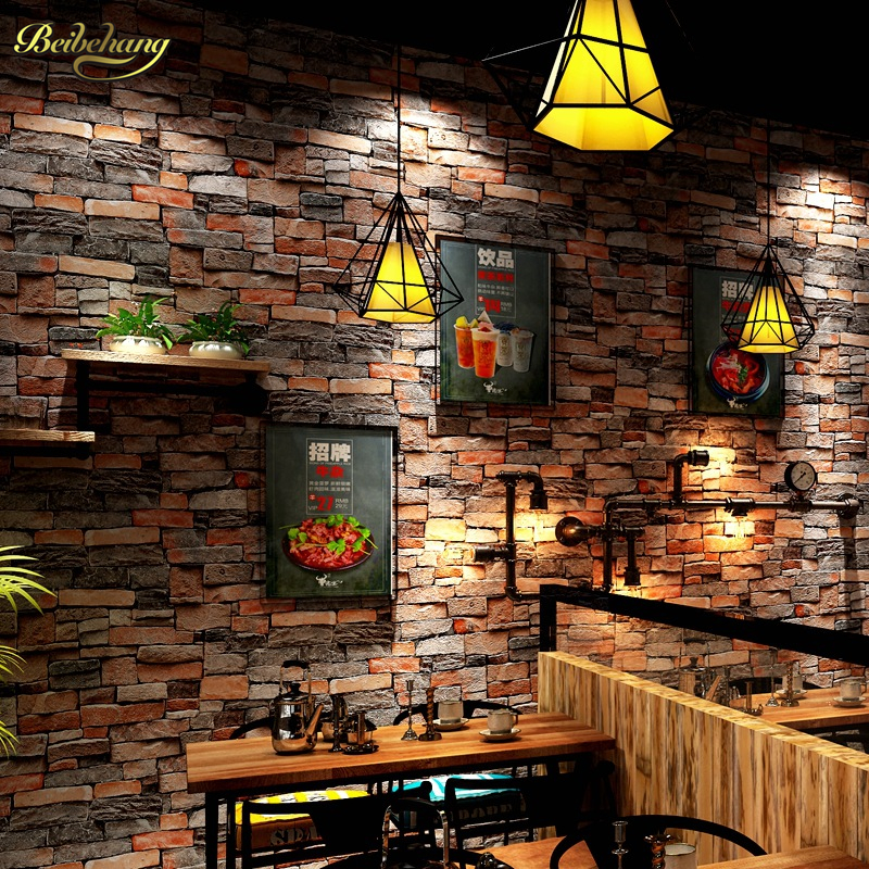 beibehang papel de parede 3D Chinese stone brick wallpaper for walls 3 d mural wall paper roll bedroom wall ceiling living room<br>