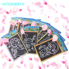 1pcs Kids Magic Scratch Art Doodle Pad Painting Card Educational Game Toys Early Learning Drawing Toy ,Random 1pcs Designs S(China)