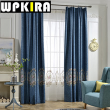 White Embroidered Voile Cortinas Purple Shade Curtains Living Room Blue Floral Curtain Bedroom Window Cloth Curtain Panels 30