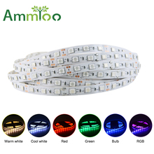 SMD 5050 5M 300LEDs Fiexible Led RGB Strip Lights DC 12V Neon Light Fita De Led Ribbon Tape Lamps for Ceiling Counter Home Decor(China)