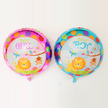 Animal lion monkey birds zoo pet bay boy baby girl Mixed 10pcs/lot Baby Foil Balloons Baby Shower 1st Birthday baloes metalicos