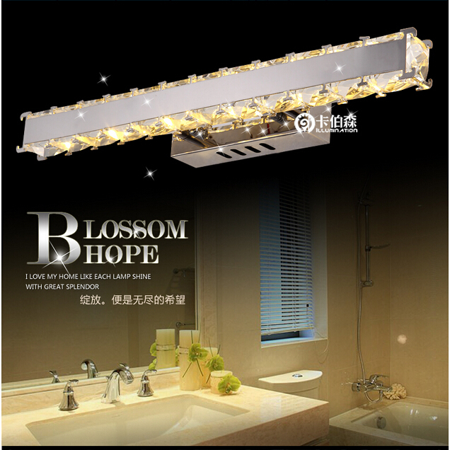 100% quality modern brief design fashion luxurious K9 crystal led crystal wall lamp for bathroom mirror front light H-1710<br><br>Aliexpress