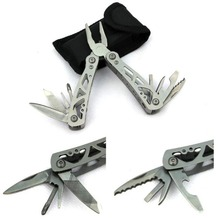 Stainless Steel Folding Portable Multifunction Tool Plier Knife Saw Screwdriver Equipment V2