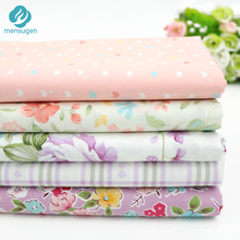 Mensugen 5pcs/lot 40cm*50cm Twill Cotton Fabric Patchwork Foral Tissue Cloth Of Handmade DIY Quilting Sewing Baby Pillows(China)