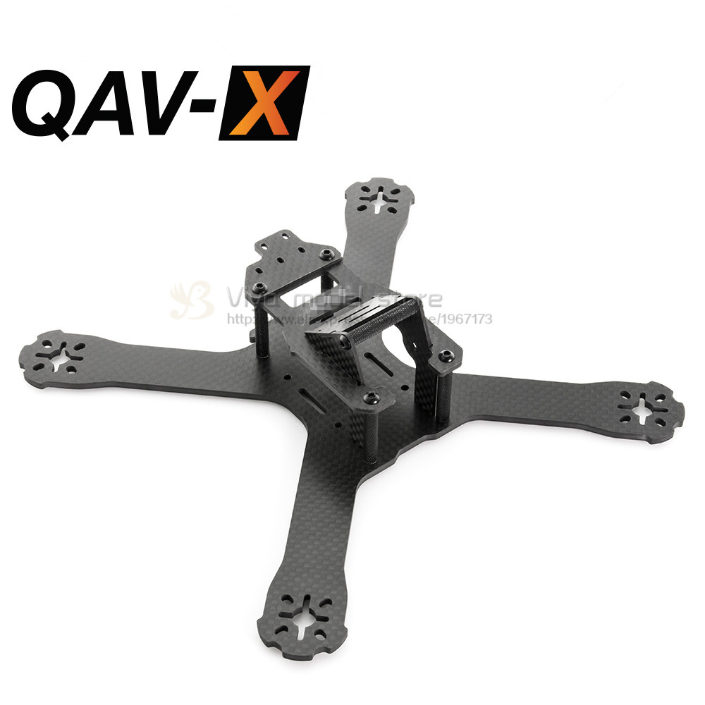 the newest DIY mini drone FPV QAV-X 214mm cross racing quadcopter QAV-R 210 pure carbon fiber frame for Gifts 5045 V2 propeller<br><br>Aliexpress