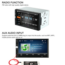 "US STOCK 7"" Universal 2 Din HD Car Radio MP5 Player Bluetooth Radio Entertainment Multimedia with Rear View Camera"