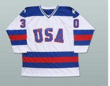SexeMara Ice Hockey Jersey Vintage 1980 Miracle On Ice Team USA Jim Craig 30 Hockey Jersey Winter Sport Wear Wholesale Dropship