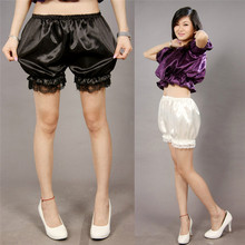 Women's Soft Lolita Lace Bloomers Pumpkin Pants Cute Panties Scanties Ladies Girl Basic Safety Short Pant Shorts 3 Colors(China)