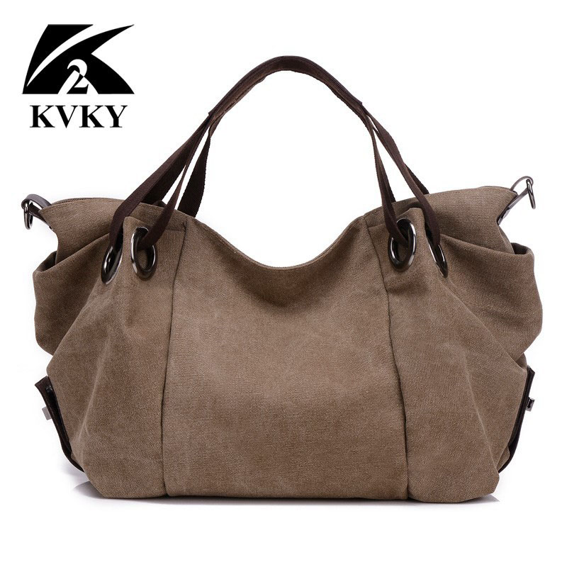 KVKY New Hot Autumn Winter Canvas Women Bags Handbags Big Shoulder Bags Messenger Bag Ladies Crossbody Bag Tote bolsas femininas<br>