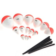 Nice 14Pcs/Set Polystyrene Fishing Floats with Sticks Professional Fish Float Outdoor Sea Fishing Accessory
