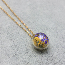 2017 new design summer style glass beads necklaces&pendants vintage simple natural flower statement chain necklace for women(China)