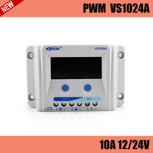 VS1024A PWM 10A solar charge controller LCD display for solar home system, traffic signal, solar street light, solar garden lamp