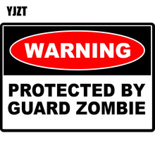 YJZT 10.2CM*7.2CM WARNING GUARD ZOMBIE Outbreak Response Team Hunter Reflective Car Sticker C1-7292(China)