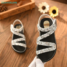 Buy Girls Sandals Glitter 2018 New Summer Flat Kids sandal Children Princess Shoes girl fashion Girls beach Sandals EU 26~36 for $8.32 in AliExpress store
