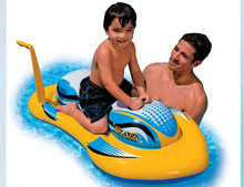 IT PVC children inflatable games motorboat balloon,can be drived toy for pool