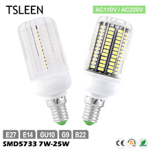 TSLEEN Cheap Sale Led Lamp 7W-25W 30-136Leds LED Corn SMD5733 E27/E14/B22/G9/GU10 Milky/ Transparent 110V 220V Led Light Bulb