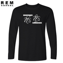 2016 Big Bang Theory I Lost an Electron Are You Positive T-Shirt streetwear fashion Men Long sleeve t shirts tops tee