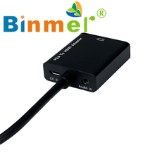 VGA To HDMI Output 1080P HD Audio TV AV HDTV Video USB Cable Converter Adapter_KXL0530(China)
