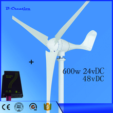 Small/mini Wind Turbine ; Wind Turbine Generator 600w ; 3 years warranty with RoHS CE ISO9001 Certification