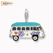 Colorful VW Bus Pendant Charm,Thomas Style Club Good Jewelry For Women,2017 Ts Gift In Silver Fit Bag TS Necklace,Super Deals