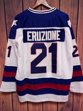 EJ 1980 Miracle On Ice Team USA Mike Eruzione 21 Hockey Jersey-White(China)