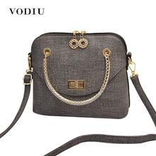 Women Bags Handbag Tote Crossbody Over Shoulder Sling Summer Leather Messenger Scrub Shell Small Lock Female White Casual Bolsas(China)