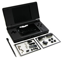 Black Full Repair Parts Replacement Housing Shell Case Kit for Nintendo DS Lite NDSL