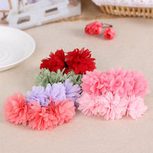 1PC Cute Fashion Princess Chiffon Flowers Girls Sweet Elastic Rubber Bands Barrettes Party Head wear Hair Accessories