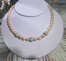 10x10 jewerly free shipping >very south sea natural pink pearl necklace 18inch ok clasp(China)