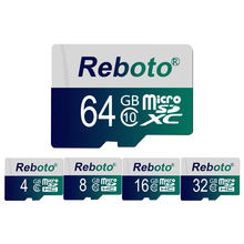 Reboto Microsd Card Real Capaity Memory Card 4GB High Speed micro sd card 8GB 16GB 32gb class 10 Micro sd TF Card 64GB