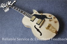 All Real Pictures ES 175 Hollow Body Jazz Electric Guitar Maple Natural Color Flame Back In Stock For Shipping(China)