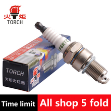 4pcs/Lot Genuine TORCH Nickel Alloy Car Spark Plugs Car Candles F6RTC for CHEVROLET aveo/lanos/niva2123/spark/DAEWOO matiz/nexia(China)