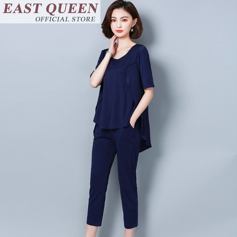 Female set 2 pieces pants women outfits pantsuit womens two piece sets 2018 ladies two piece set top and pants FF424