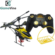 GizmoVine RC Helicopter Remote toy Mini Drone Hanging basket helicopter Gyro Radio Control Metal Alloy Fuselage RC Flying toys(China)