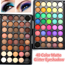 2017 New Fashion 40 Colors Pro Eyeshadow Palette Makeup Long Lasting Matte Pearl Shimmer Eye Shadow Makeup Eyeshadow Palette