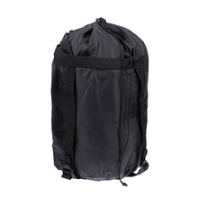 Waterproof Lightweight Nylon Compression Stuff Sack Bag Outdoor Camping Sleeping Small Bag Black Drawstring Bag 43 * 23 * 23cm