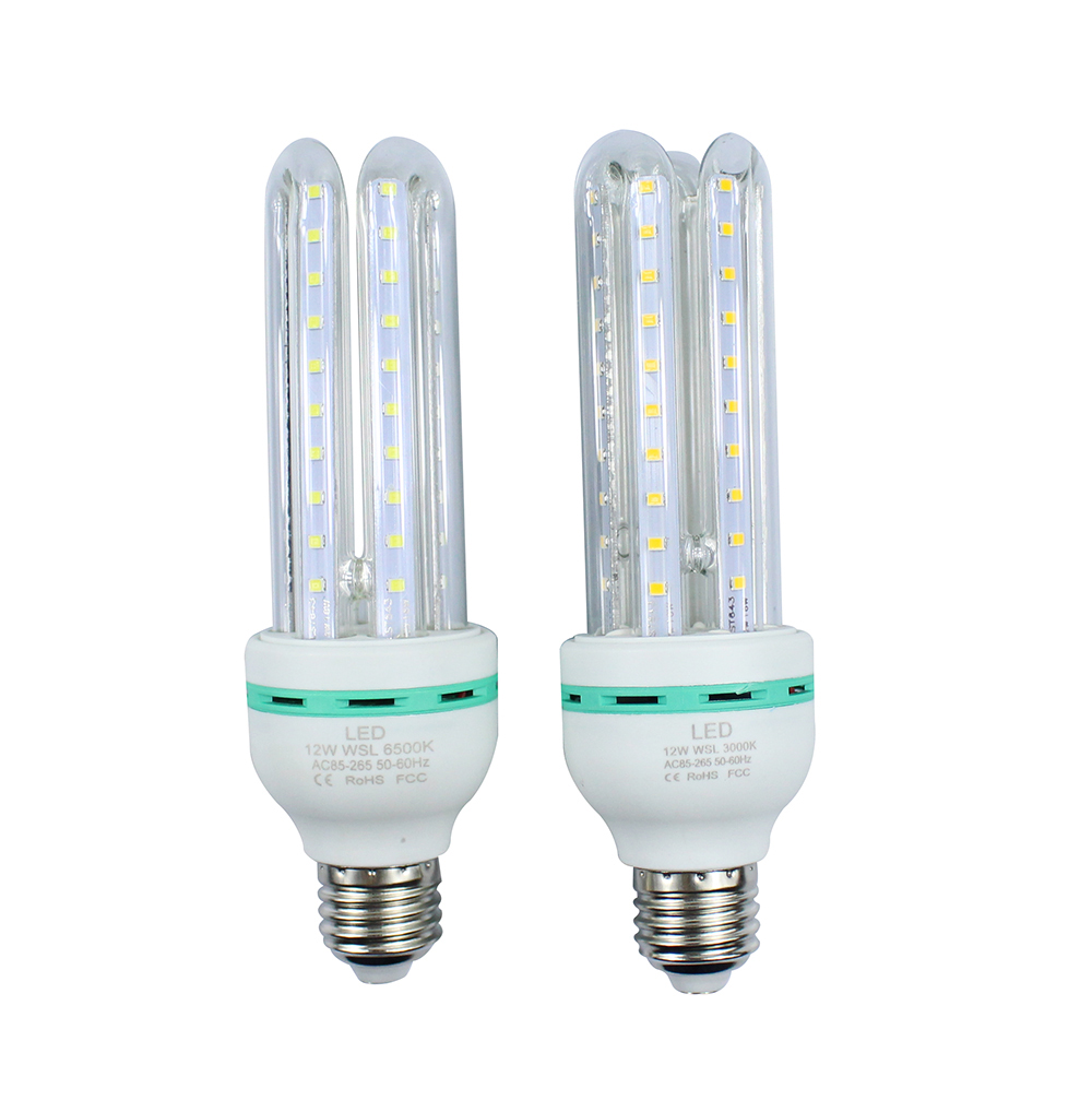 Energy saving 1Pcs CE E27 12W 2835 SMD LED Corn Bulb AC85-265V U Shape High Luminous Spotlight LED lamp light free shiping<br><br>Aliexpress