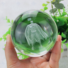 IHOMELF 3D Batman Crystal Ball Fancy LED Lighting and Spinning Primary Base Advance 3D Laser Engraving Valentine Children's Gift