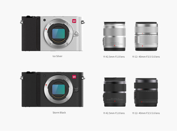 YI M1 Mirrorless Digital Camera Prime Zoom Two Lens LCD Minimalist RAW 20MP Video Recorder 720RGB  International Version 4