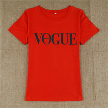 2017 New Harajuku Fashion T Shirt Tops VOGUE Letter Printed O-neck Female T-shirt Summer For Women Red Black white Tshirt  Tee