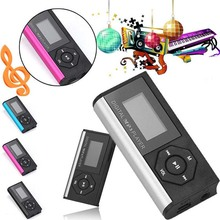 Mini Clip MP3 Media Player LCD Screen MP3 Music Player Portable Support 32GB Micro SD TF LED Flashlight Stereo 3.5mm MP3 Player(China)