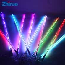 10pcs 50cm Led String Light Meteor Shower Rain Tubes RGB 72Leds Outdoor Decorate Tree Lights Led Waterproof Falling Star Shower