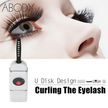 Electric Heated Eyelash Curler U Disk USB Connector Charge Mini Portable Size Beauty Eye Lash Curling Makeup Tools Rechargeable