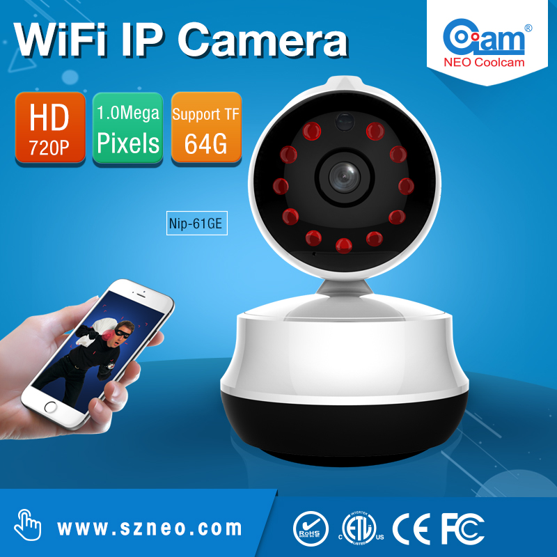 COOLCAM NIP-061GE Wifi IP Camera wi-fi 720P Night Vision Wireless MINI P2P CCTV Camera Security Onvif SD Card Indoor Home CAM(China (Mainland))