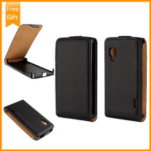 Luxury Genuine Leather Case For LG Optimus L5 II E450 E460 E455 , Phone Pouch Filp Cover For LG L5II Free Shipping+Gift